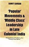"""Popular' Movements and 'Middle Class' Leadership in Late Colonial India: Perspectives and Problems of a """"History from Below"""""""