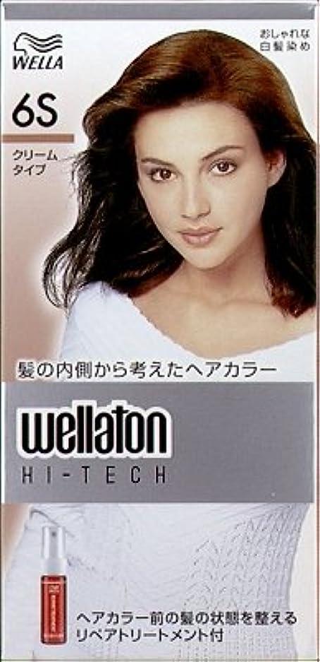 パターンどきどきしてはいけません【ヘアケア】P&G ウエラトーン ハイテック クリーム 6S 透明感のある自然な栗色 医薬部外品 白髪染めヘアカラー(女性用)×24点セット (4902565140572)