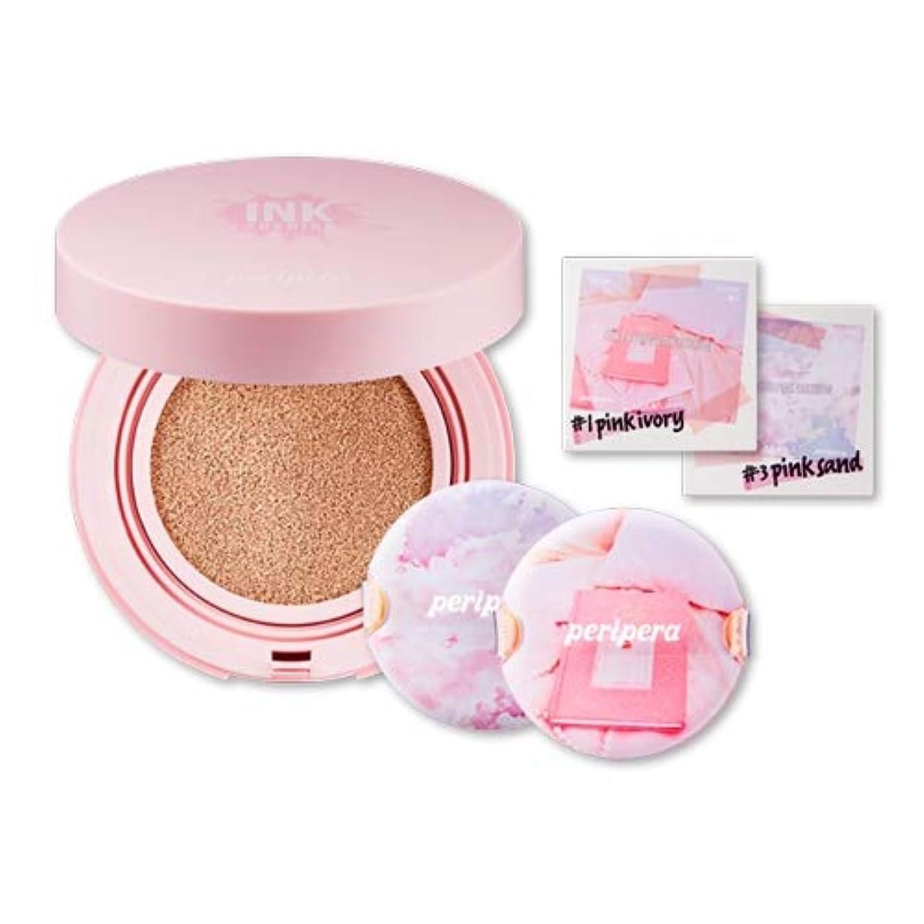 議題クリエイティブ寺院Peripera ペリペラ [ピンクの瞬間] インクラスティング ピンク クッション [Pink-Moment] Inklasting Pink Cushion (#3 Pink Sand) [並行輸入品]