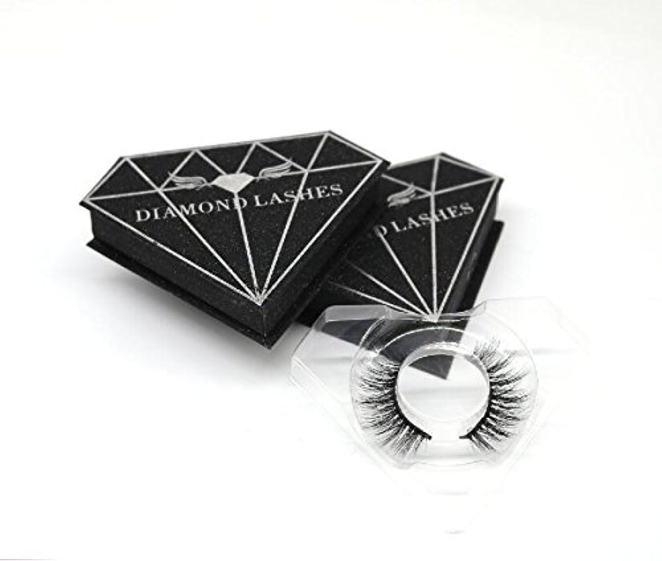 ロッドダイヤモンド悲劇3D自然な 高級ミンクつけまつげ 全く天然なミンク毛で手作り 収納ケース付け 3D125