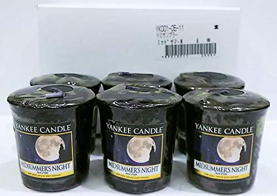 ジュラシックパークピケ人類ヤンキーキャンドル サンプラー お試しサイズ ミッドサマーズナイト 6個セット 燃焼時間約15時間 YANKEECANDLE アメリカ製