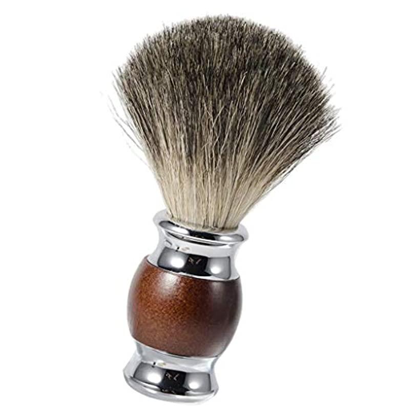 協定通路たっぷりひげブラシ シェービングブラシ 木製ハンドル 理容 洗顔 髭剃り 泡立ち メンズ用 友人にプレゼント