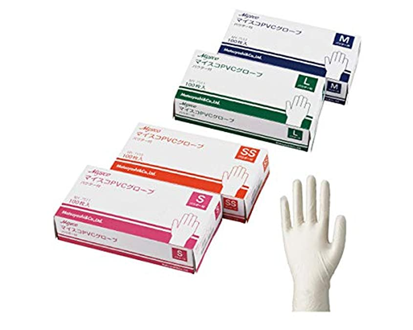 最大限過言特許マイスコ PVC グローブ パウダー付き 100枚入×10箱 SSサイズ
