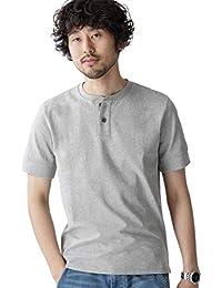 [ナノユニバース] Anti Soaked ヘビーヘンリーネック Tシャツ メンズ