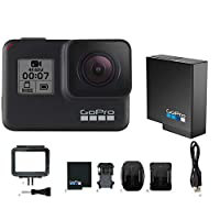 GoPro HERO7 BLACK カメラ本体+HERO7用 純正バッテリー1個付きセット【国内総代理店 タジマモーター保証1年付】