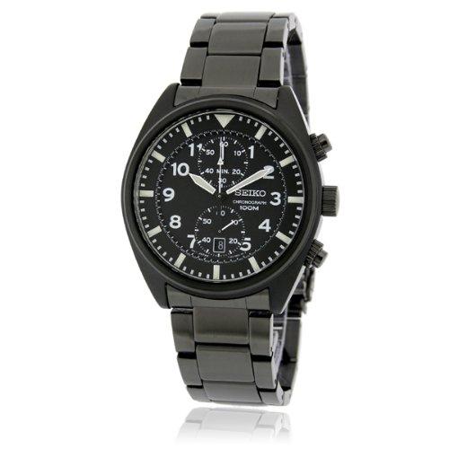 [セイコー]SEIKO 腕時計 QUTARZ CHRONOGRAGH クオーツ クロノグラフ SNN233P1 逆輸入 オールブラック メンズ[並行輸入品]