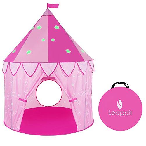 [WolfWise]キッズ テント かわいい お城の形ドームテント 組み立てかんたん 収納ケース付 屋内用 屋外用