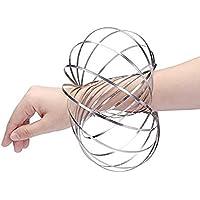 フローリング マジックリング Flow ring 3D おもちゃ 腕輪 子供 大人 適用 ストレス解消 (シルバー) (シルバー)
