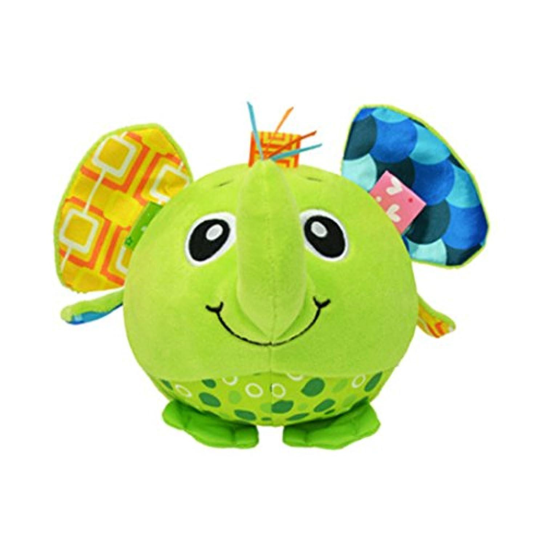Edtoy Cute Elephant赤ちゃんクリエイティブインテリジェンスボールInfant Plush Interactive Rattleおもちゃ