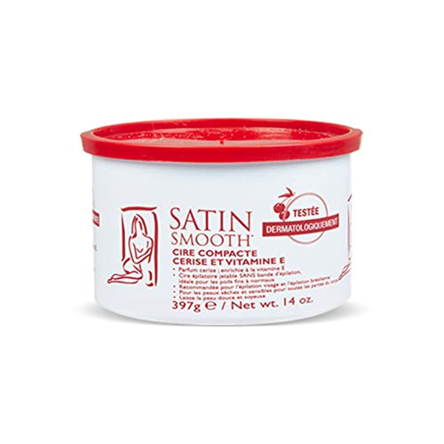 Satin Smooth Wild Cherry Hard Wax with Vitamin E, 14 oz. 141[並行輸入]