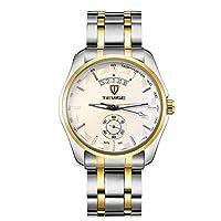 HWCOO 美しい時計 TEVISEメンズ腕時計自動機械式メンズ腕時計ファッションメンズ機械式腕時計 (Color : 4)