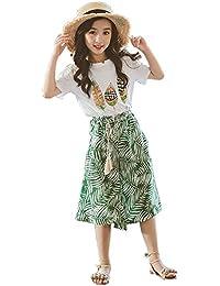 eb778c43e31e8 Amazon.co.jp  グリーン - Tシャツ・カットソー   ガールズ  服 ...