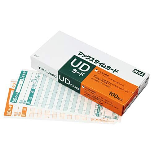 マックス タイムカードER-UDカード 1セット 300枚 ER-UD