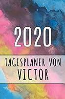 2020 Tagesplaner von Victor: Personalisierter Kalender fuer 2020 mit deinem Vornamen