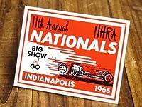 ステッカー 復刻 NHRA 全米ホットロッド協会 NATIONALS 1965 INDIANAPOLIS_SC-DZ288-MON