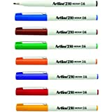 Artline 210 Fineliner Pen 0.6Mm Assorted