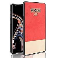 Happon Samsung Galaxy Note 9 シェル, シェル パウチ シェル [保護] シェル カバー 合うs Samsung Galaxy Note 9-Red