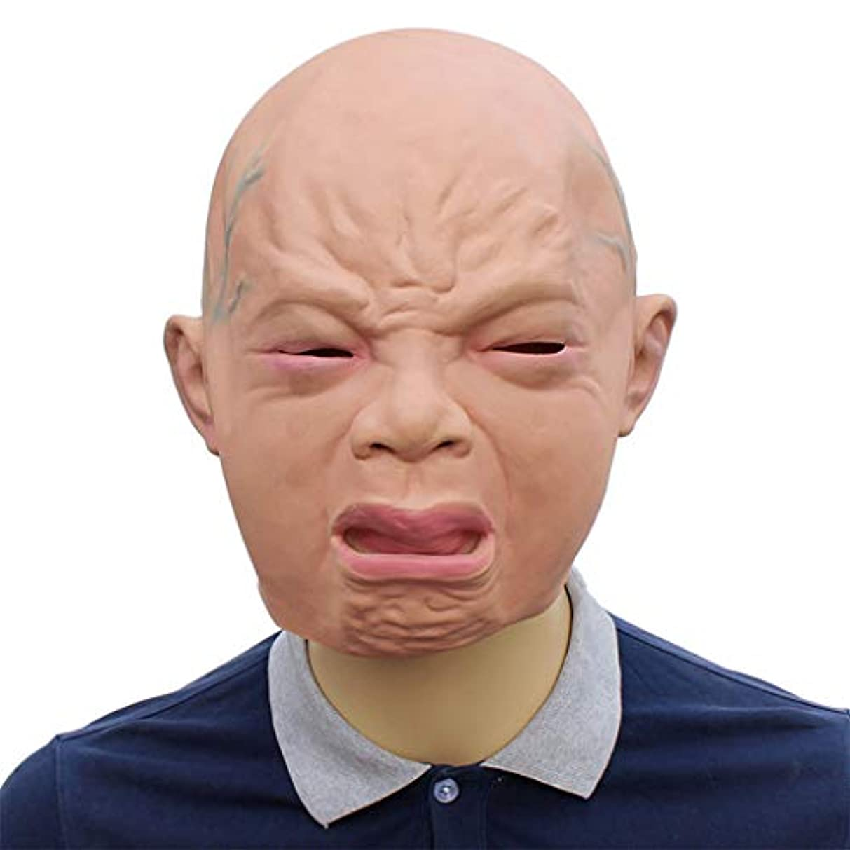 数値墓地オーナメントハロウィンマスク、キャラクターマスク、ノベルティファニーラテックスリアルな泣き虫ベビーギア、ハロウィンイースターコスチュームコスプレ用
