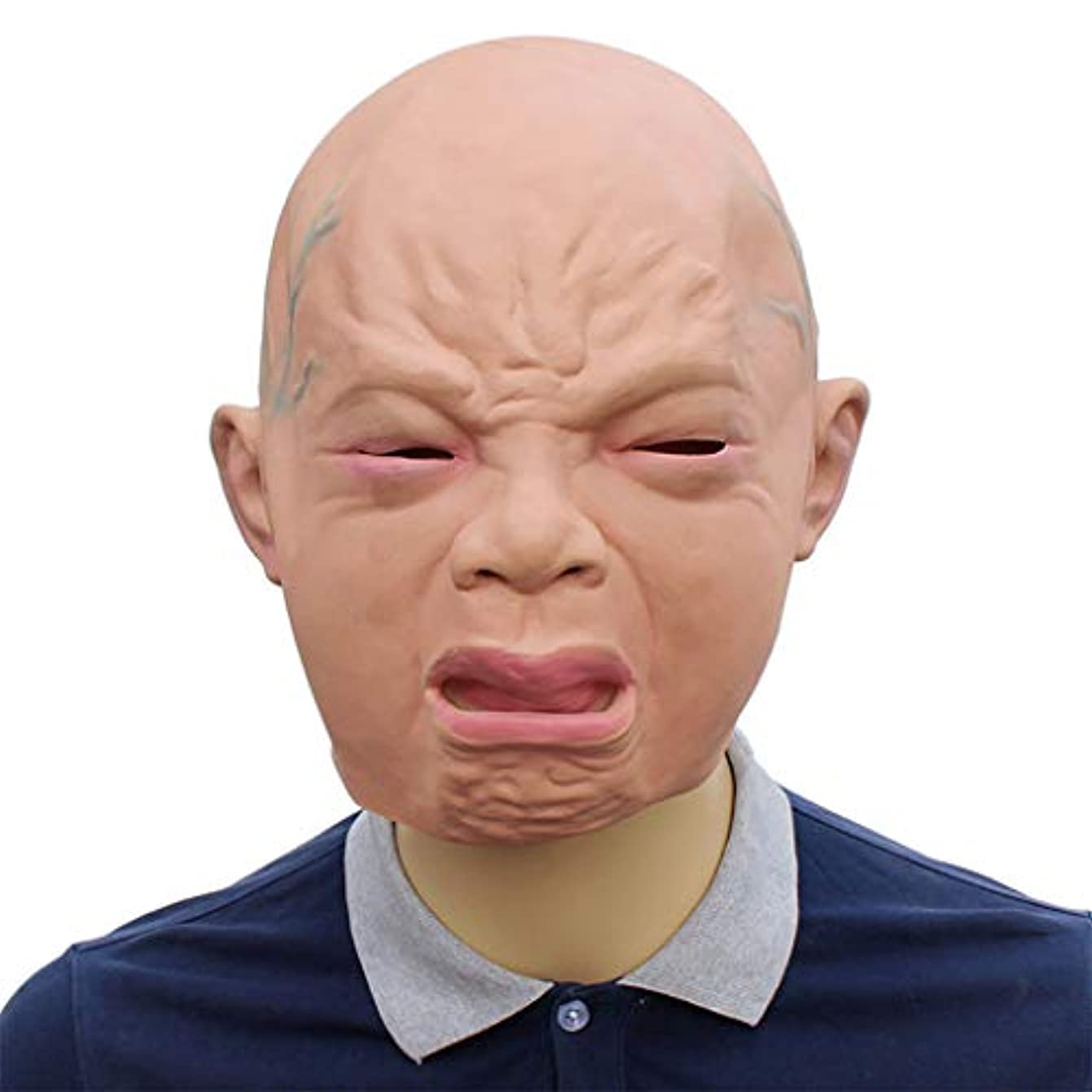 メンタリティ食べる八ハロウィンマスク、キャラクターマスク、ノベルティファニーラテックスリアルな泣き虫ベビーギア、ハロウィンイースターコスチュームコスプレ用