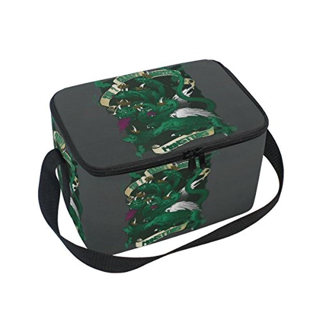 不安致命的スペインクーラーバッグ クーラーボックス ソフトクーラ 冷蔵ボックス キャンプ用品  緑化け物 怖い  保冷保温 大容量 肩掛け お花見 アウトドア