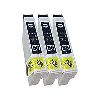 EPSON(エプソン)最優良互換インクカートリッジ IC50 ブラック3本セット 残量表示機能付 最新チップ 【Green shower製品正規品】【安心一年保障付き50BK3】
