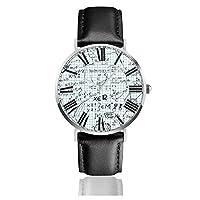 数学の草稿 腕時計 超薄型 軽量 ステンレス製 ブレスレット 40mm 防水 男女兼用