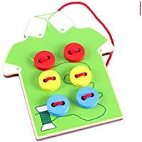 Tie-Up Cloth Seam Button Kids Learnimg To Tie Cloth Lacing Preschool Educational Toy [並行輸入品]