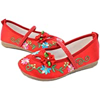 JIUZHOUTONG Old Beijing Embroidered Cloth Shoes Kid Cowhells