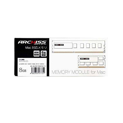AS-MU08G1866D3E-S U-DIMM ECC DDR3-1866 PC3-14900  容量8GB  アーキサイト