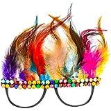 BESTOYARD クリスマス 眼鏡 サングラス フェザー サンタクロース 写真の小道具 パーティー用品