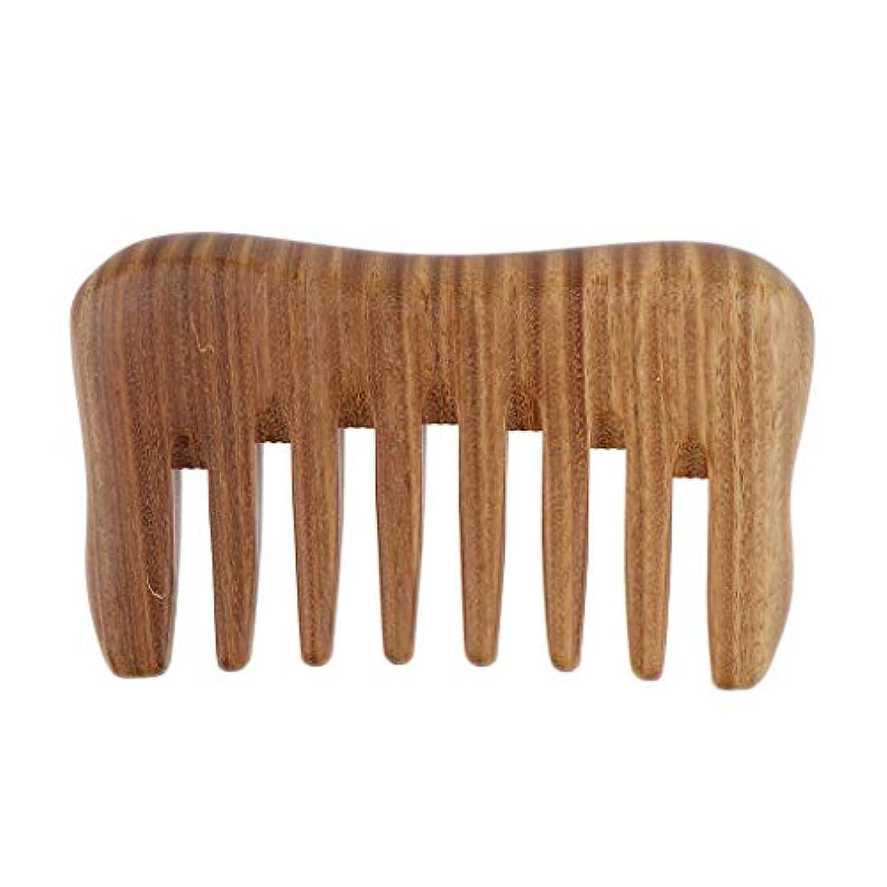ホステス建築レーザ帯電防止櫛 ウッドコーム ヘアケア 頭皮マッサージブラシ 携帯便利 3色選べ - ベラウッド