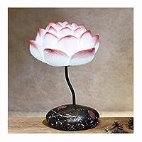 テーブルランプクリエイティブクラシック暖かいベッドルーム中国式のベッドサイドランプロマンチックなリビングルーム禅の蓮のランプ (色 : C)