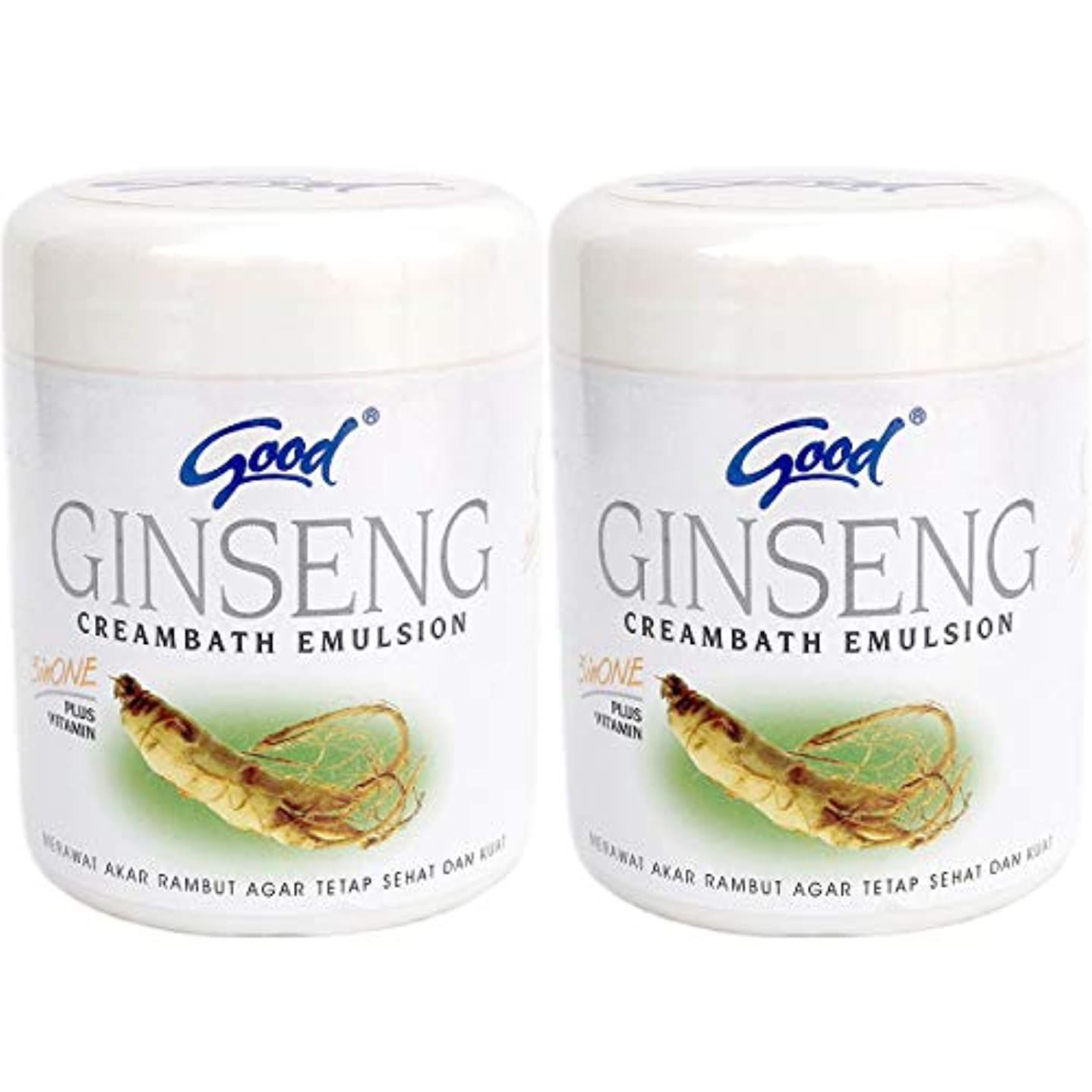 クスコオーバーヘッドパスポートgood グッド インドネシアバリ島の伝統的なヘッドスパクリーム Creambath Emulsion クリームバス エマルション 680g × 2個 Ginseng ジンセン [海外直送品]