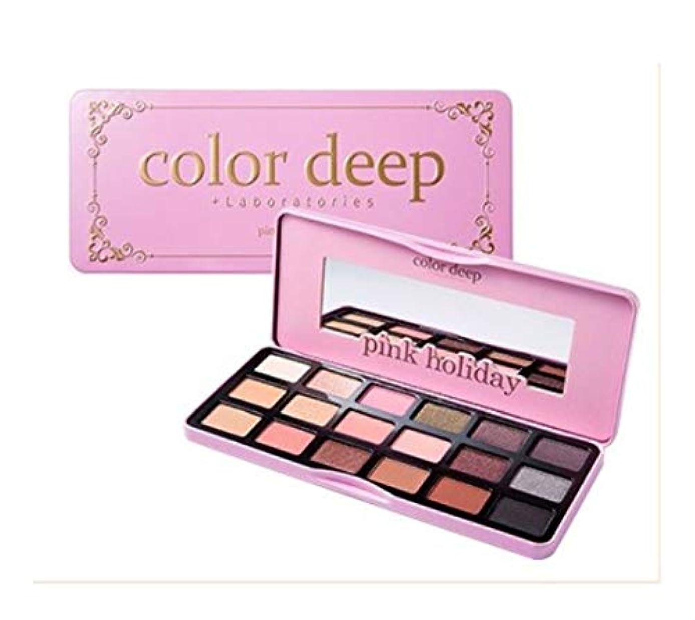 引っ張る払い戻し雇ったColor Deep Pink Holiday Eye Paletteアイシャドウパレット18color(並行輸入品)