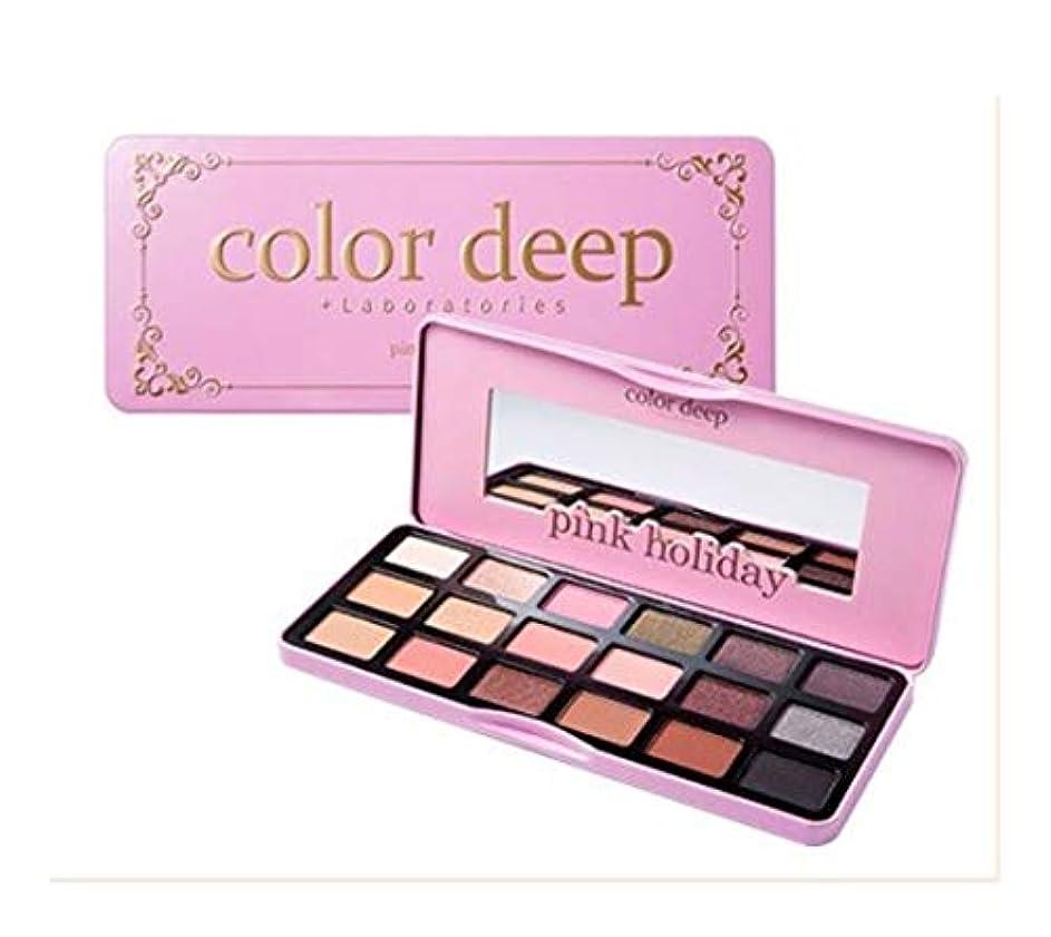 海藻野なそしてColor Deep Pink Holiday Eye Paletteアイシャドウパレット18color(並行輸入品)