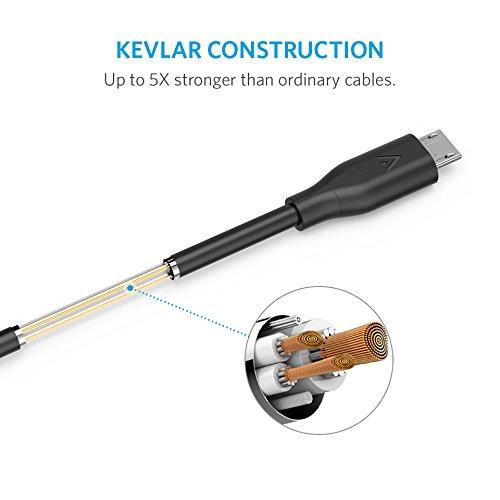 【6本セット】Anker PowerLine Micro USB ケーブル 【急速充電・高速データ転送対応】Galaxy Xperia Android各種 その他USB機器対応 (0.3m x 2, 0.9m x 3, 1.8m x 1)