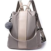 Women Backpack Purse Waterproof Nylon Anti-theft Rucksack Lightweight Shoulder Bag