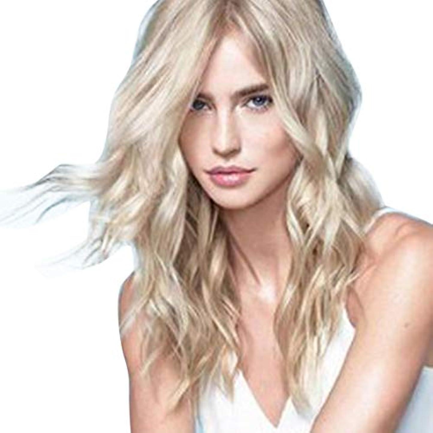 リンス大人省WASAIO ブロンドのかつら長い巻き毛のかつら60 cm (色 : Blonde)