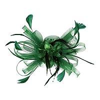 sharprepublic エレガントなヘッドバンドクリップ魅惑的なウェディングパーティーの女性の日のレースロイヤルアスコット - 緑
