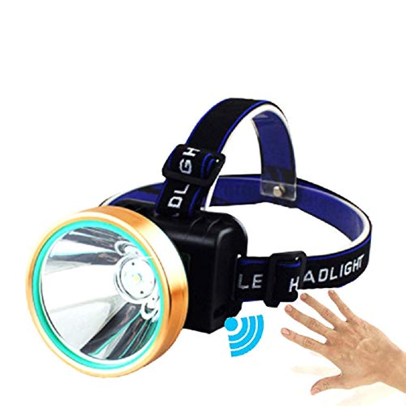 移植先にHappyGo ヘッドライト USB充電式 LEDヘッドランプ 2500ルーメン ftc スポットライト 1500m照明距離 IPX5防水 センサースイッチ 3つの照明モード リチウム電池付属(24時間使用できる) 屋外釣り用 防災