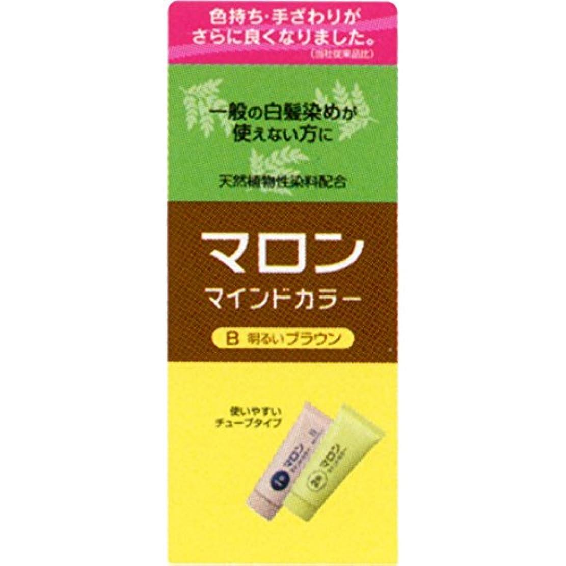 布湿原ヘンケルライオンコスメティックス マロン マインドカラー B 明るいブラウン 70G+70G (医薬部外品)
