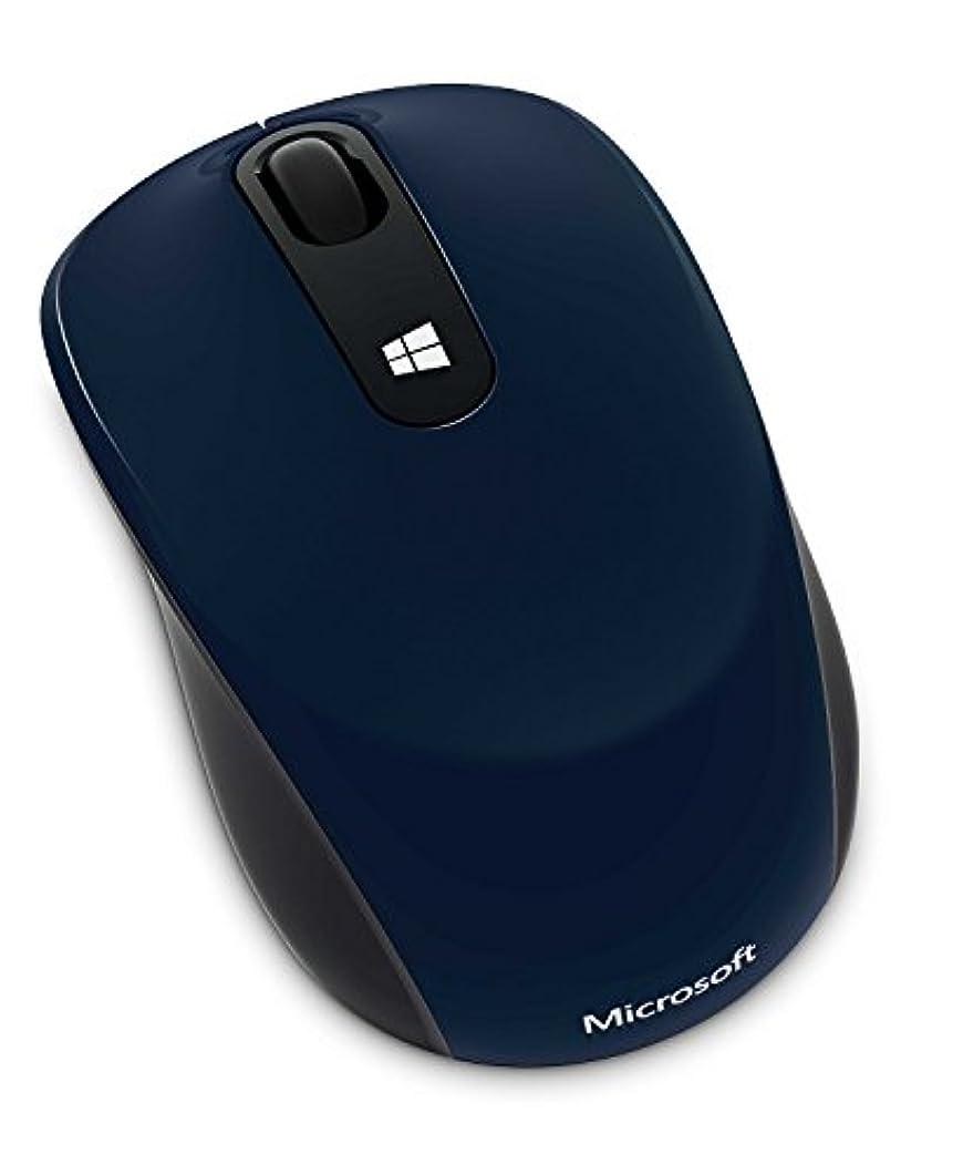 朝の体操をするイサカ変色するマイクロソフト マウス ワイヤレス/小型 ブルー Sculpt Mobile Mouse 43U-00038