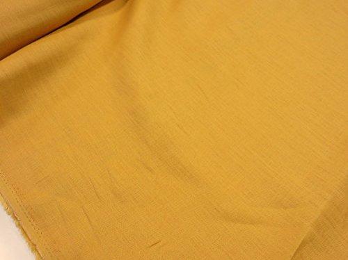 ワイド巾カラーリネン無地 イエロー黄色  |W巾|広巾|生地...