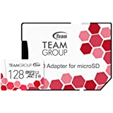 Team microSDXCカード 128GB 高速転送UHS-1 日本国内10年保証 SD変換アダプター付属 正規品