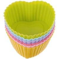 Happy_Child 12個入り カップケーキ型 マフィンカップ ベーキングカップ シリコン ハート 金型
