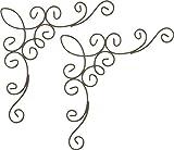 ネイチャーデザインズ 壁飾り ワイヤーコーナー 小 2コ入 チョコ 40270