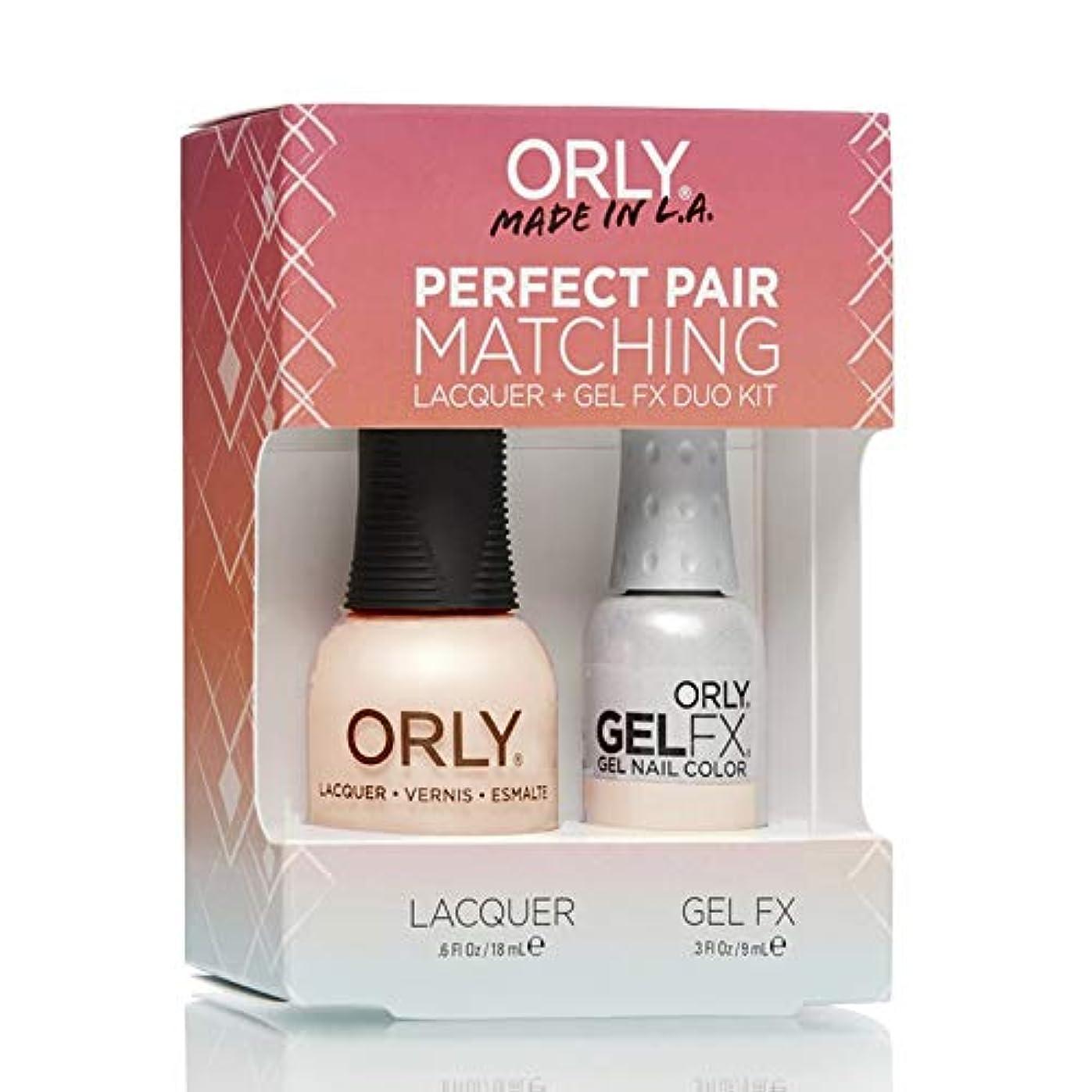 カメ前部勇気Orly Lacquer + Gel FX - Perfect Pair Matching DUO Kit - First Kiss