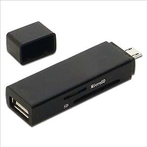 アイネックス カードリーダー付USBホストアダプタ ADV-116CR