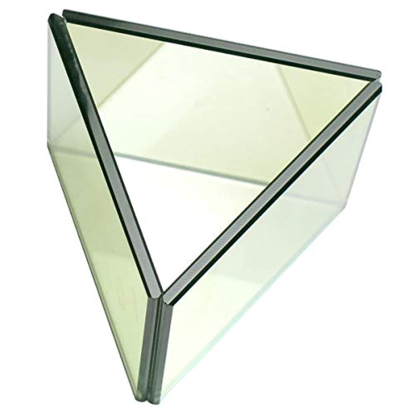 雇う電子環境無限連鎖キャンドルホルダー トライアングル ガラス キャンドルスタンド ランタン 誕生日 ティーライトキャンドル