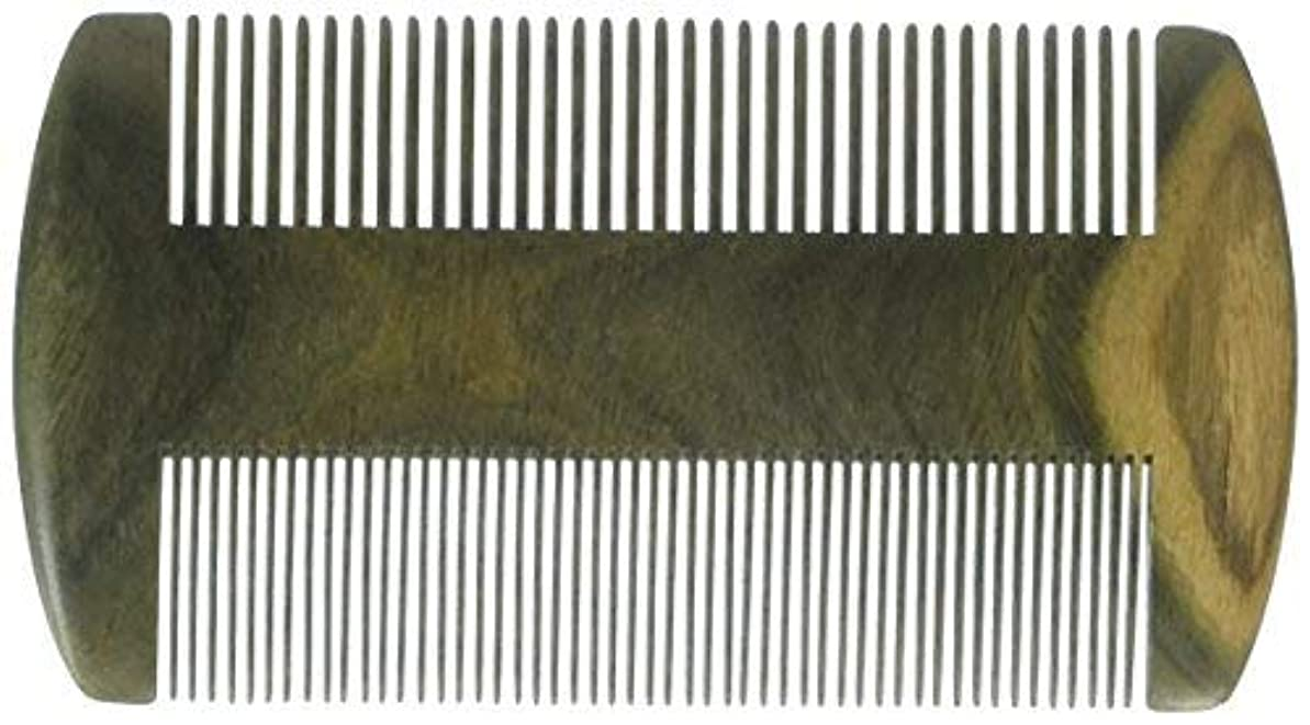 スラッシュ行政苦行EQLEF? Green sandalwood no static handmade comb, Pocket comb (beard) [並行輸入品]